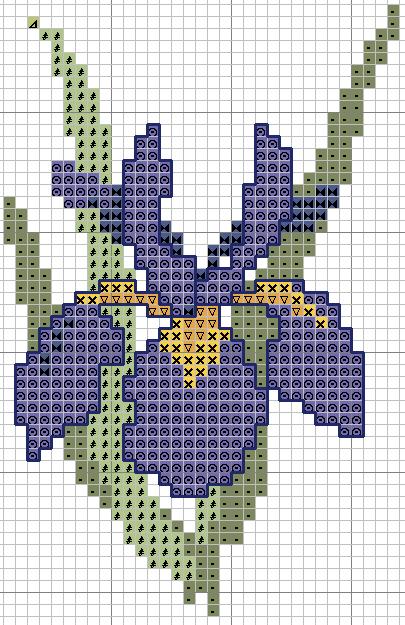 Рисунки для вышивки крестом цветов 19