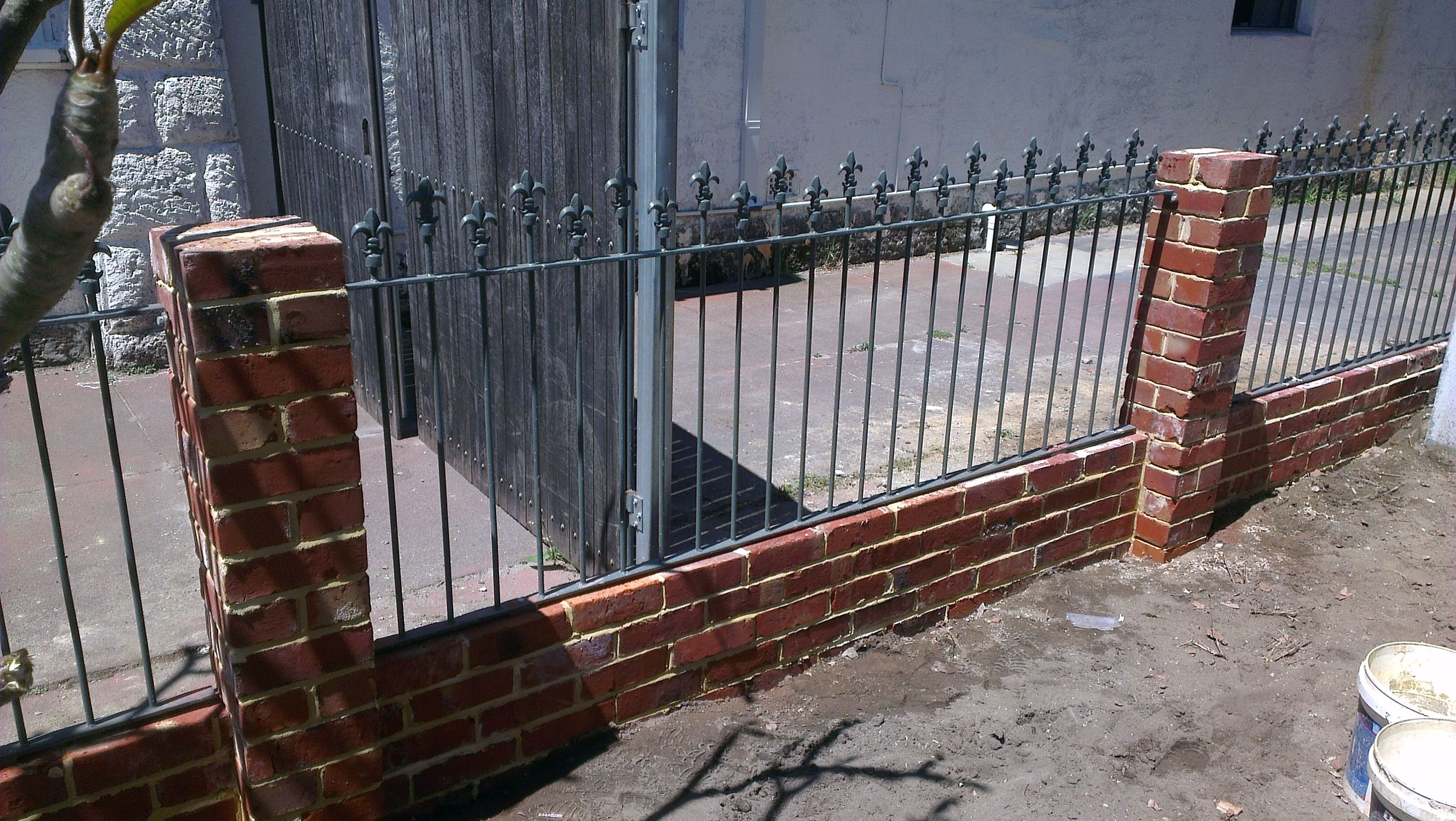 Brick Iron Fencing For Porch Gardening Gates Fences