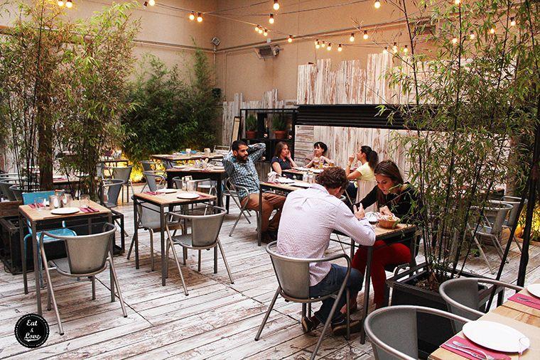 Saporem oasis en el barrio de las letras eat love madrid for Restaurantes con terraza madrid