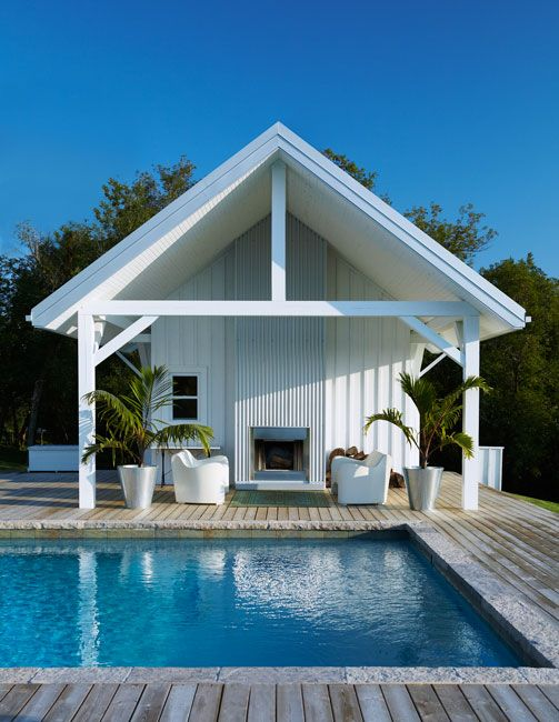 Cabana pools pool houses pinterest for Pool with pool house
