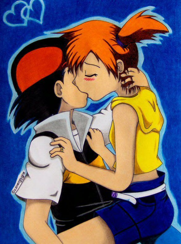 ash and misty kiss the girl № 334779