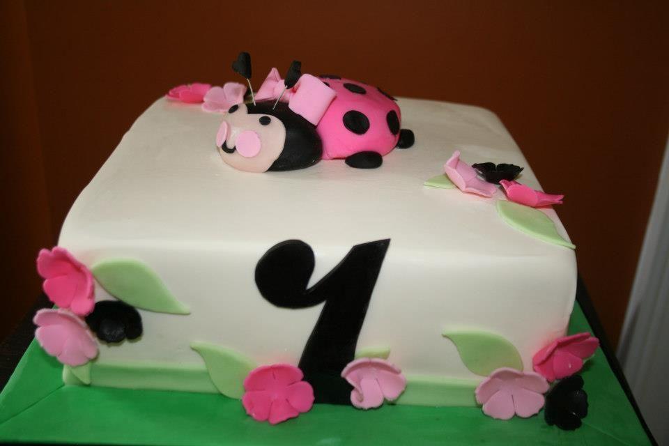 Pink lady bug cake. | Cakes & Cupcakes | Pinterest