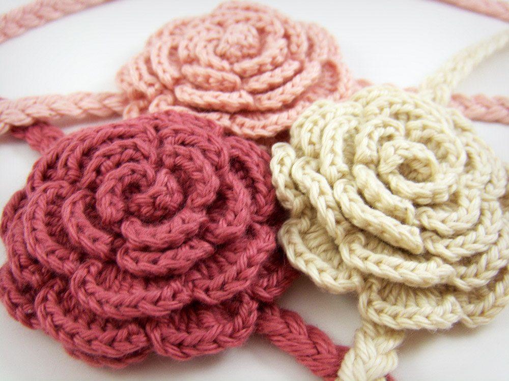 Crochet Hair Bands : Flower hair band Afagan crochet Pinterest
