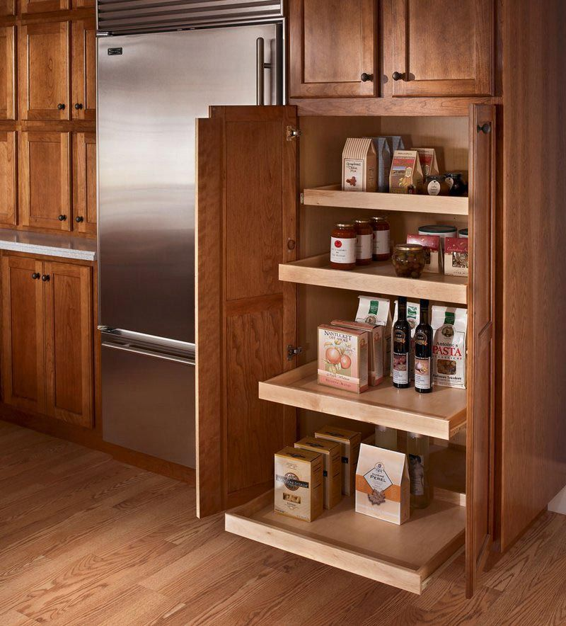 Roll out pantry kraftmaid home improvements pinterest for Kitchen closet