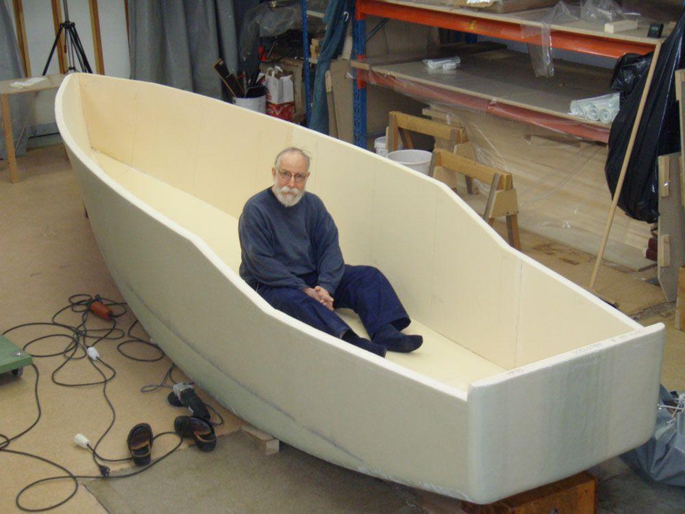 Лодка из пенопласта и стеклоткани своими руками 306