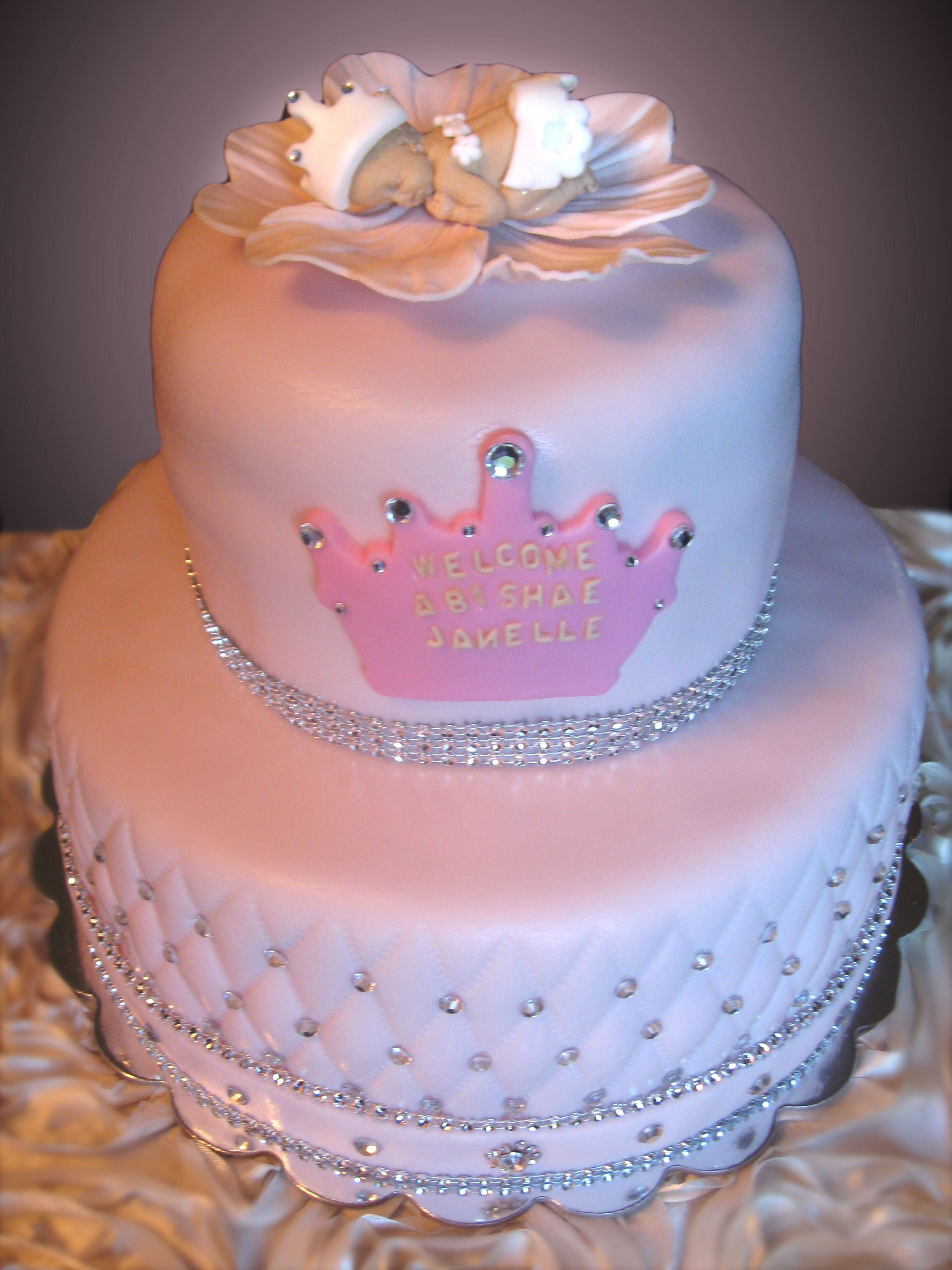 Princess baby showers its a girl and baby shower for Baby shower cake decoration idea