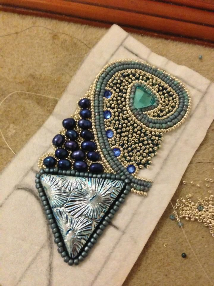 Bead embroidery tutorials on pinterest