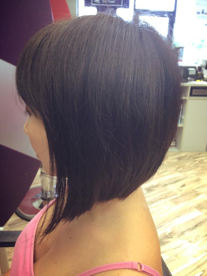 Stacked Bob For Square Shaped Faces Image Extreme Inverted Stacked Bob ...