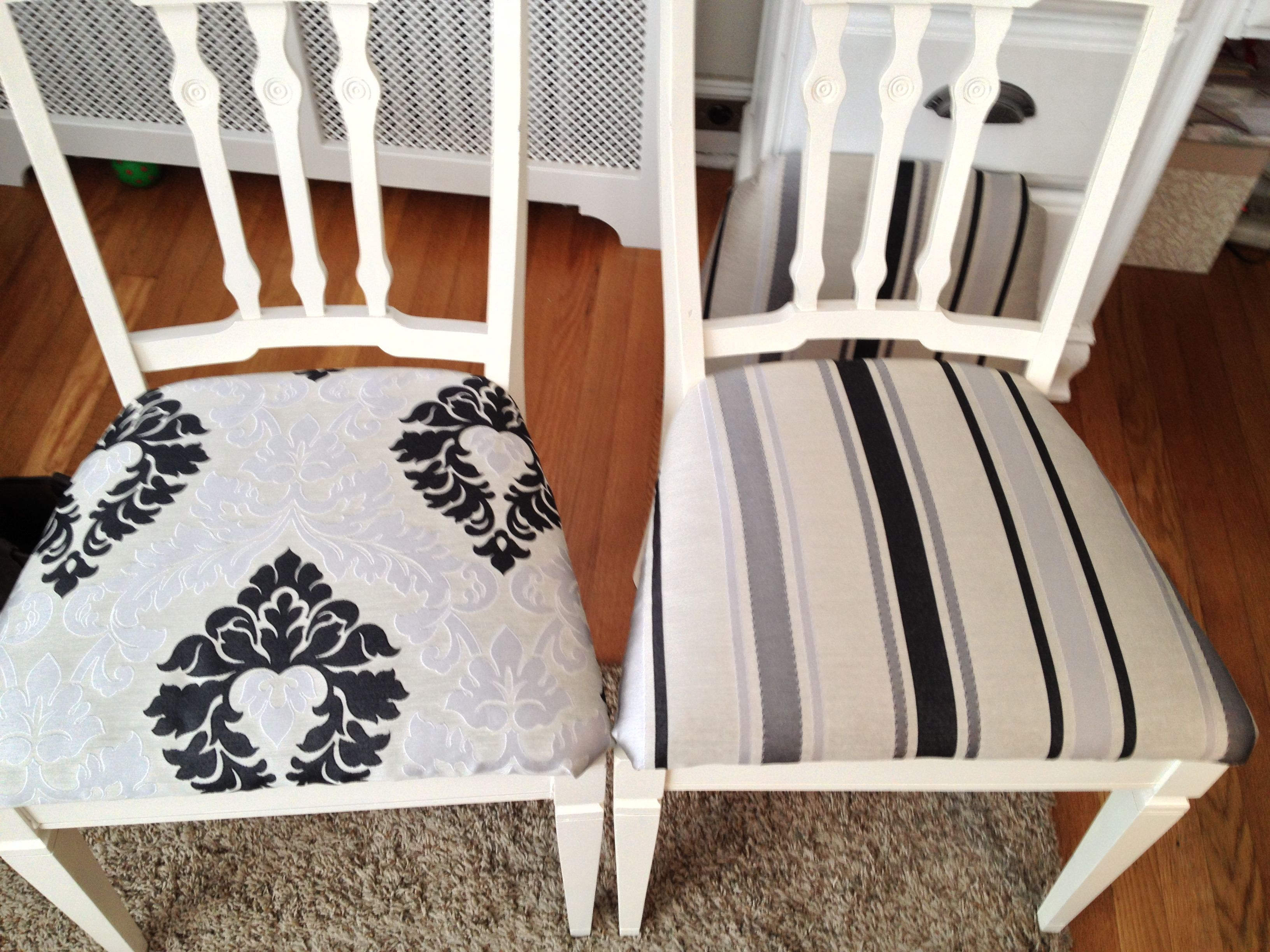 Reupholstered Dining Chairs Living Dining Room Hall Pinterest