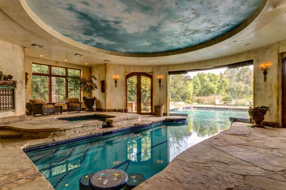 Indoor outdoor pool home pinterest for Home outdoor pool