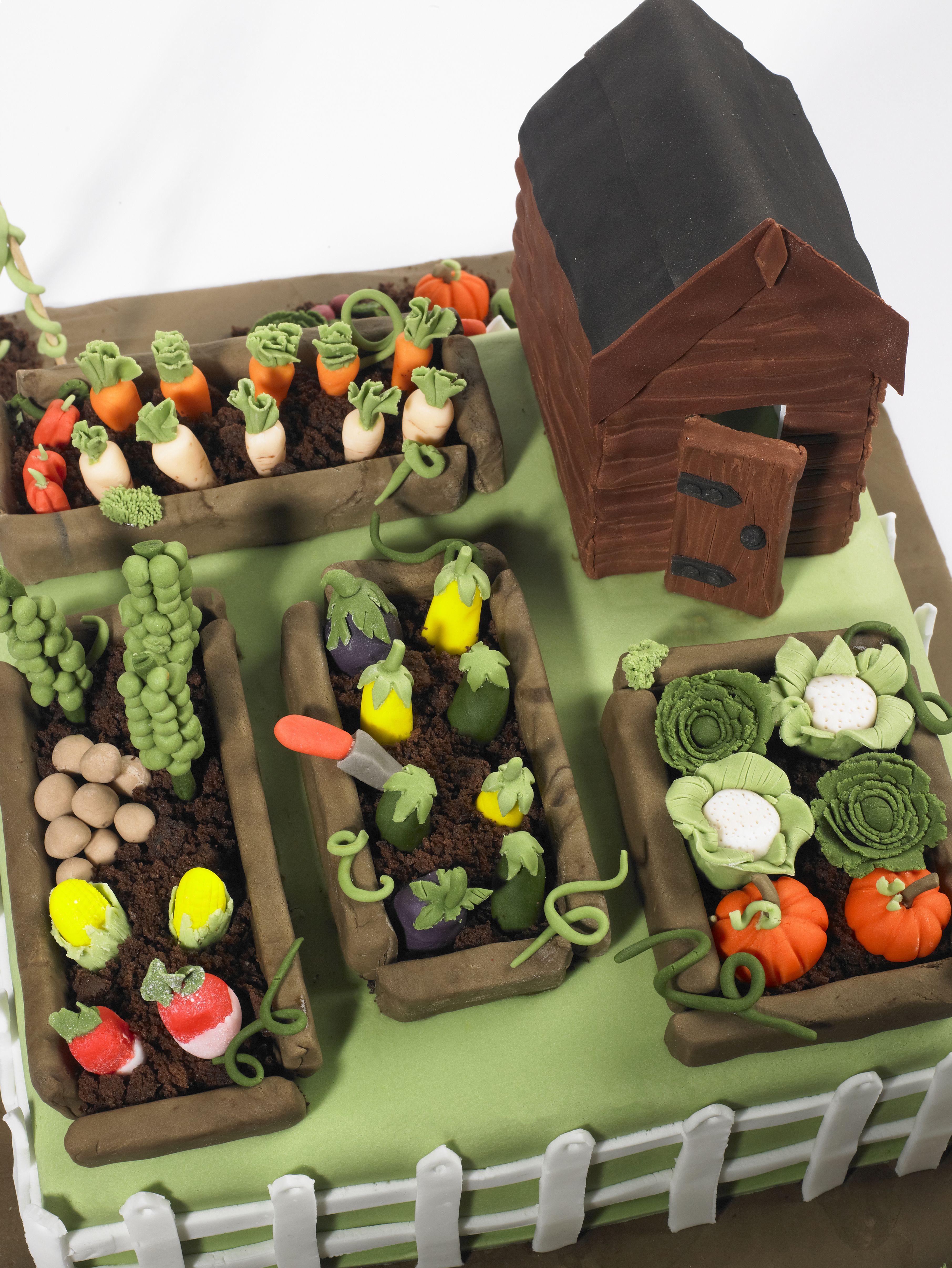 Vegetable garden cake cake ideas pinterest for Vegetable garden cake ideas