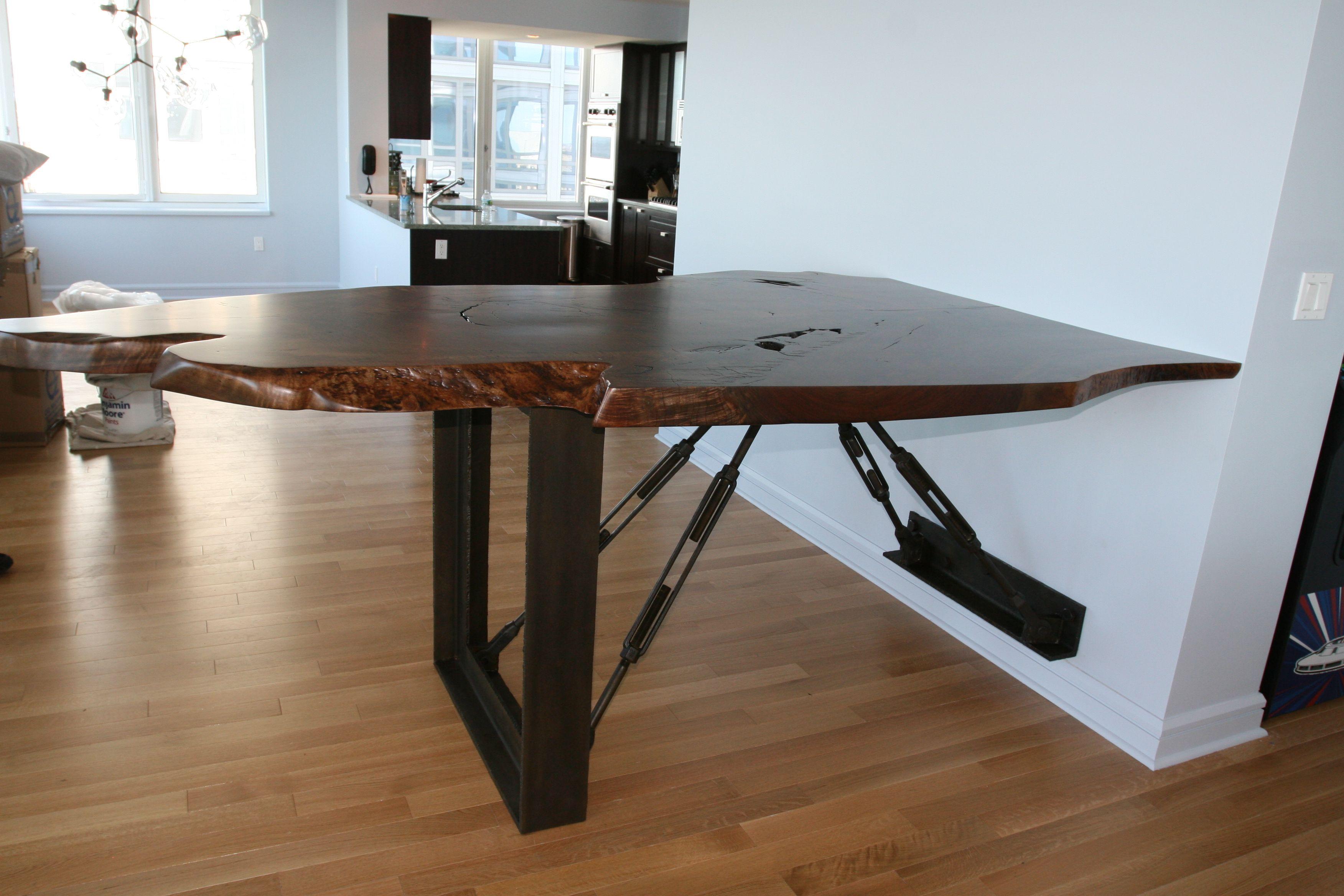 Highly Figured Claro Walnut Bar Exotic Wood Furniture Pinterest