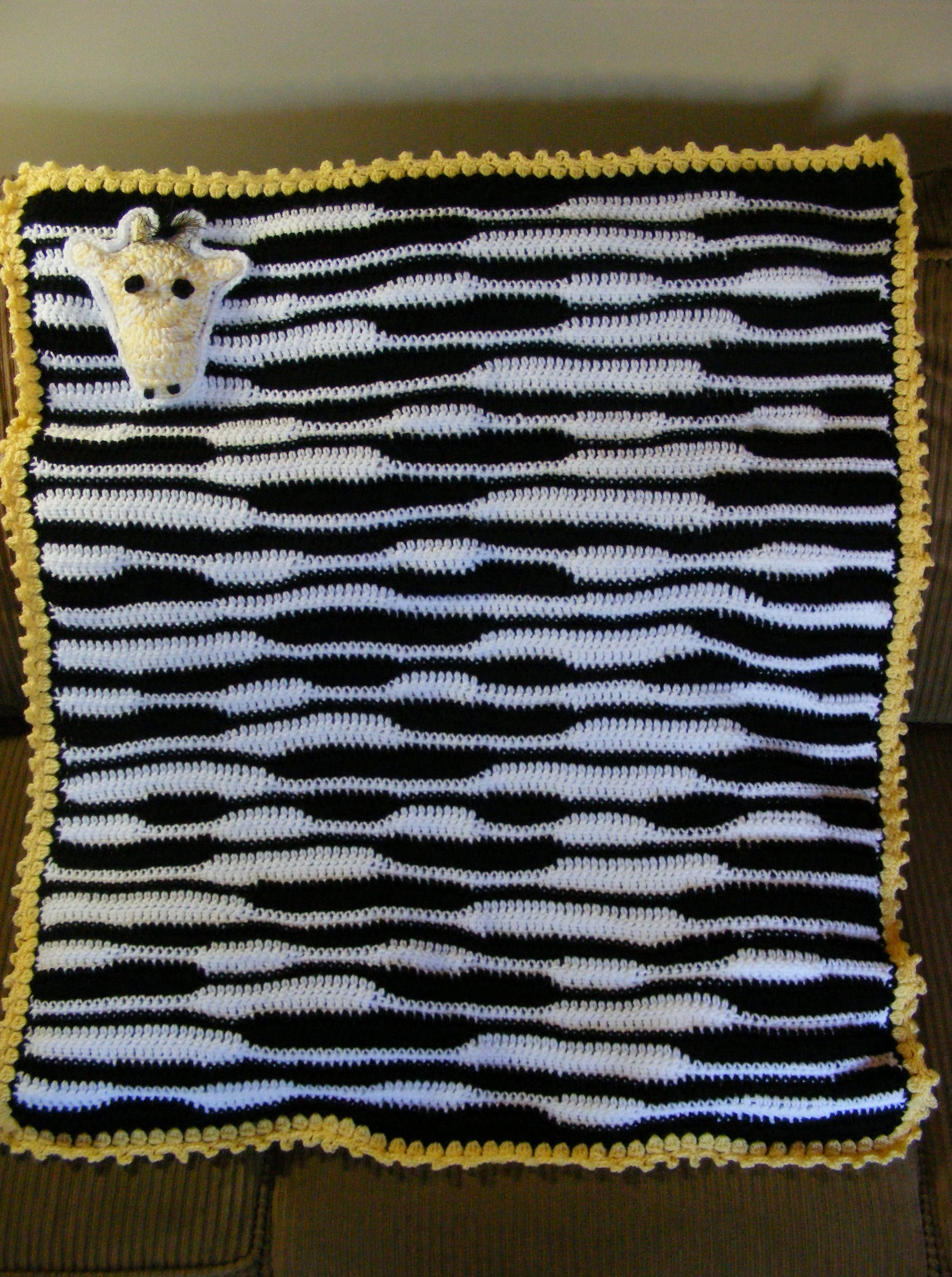 Crochet Zebra Blanket : Zebra Blanket Free Crochet Pattern Party Invitations Ideas