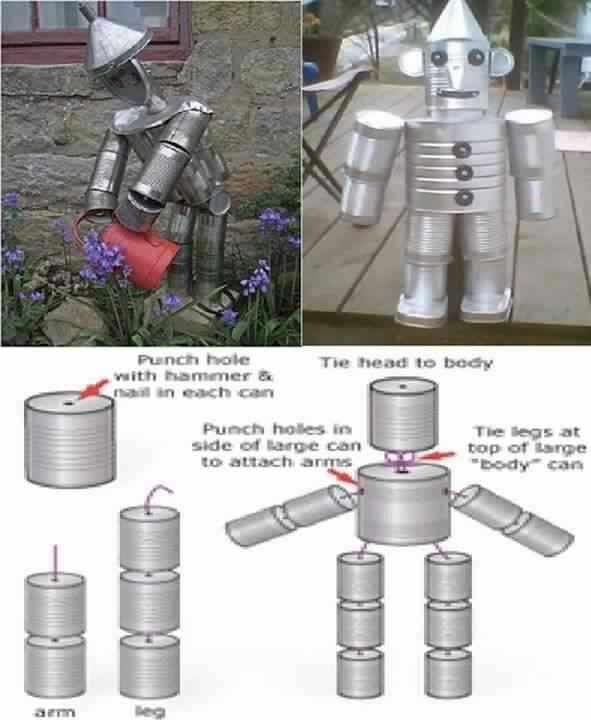 Tin can man i love it crafty projects pinterest for Tin man out of cans
