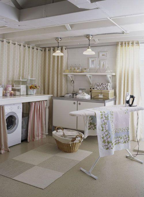 A Not Scary Basement Laundry Area Dream House Ideas