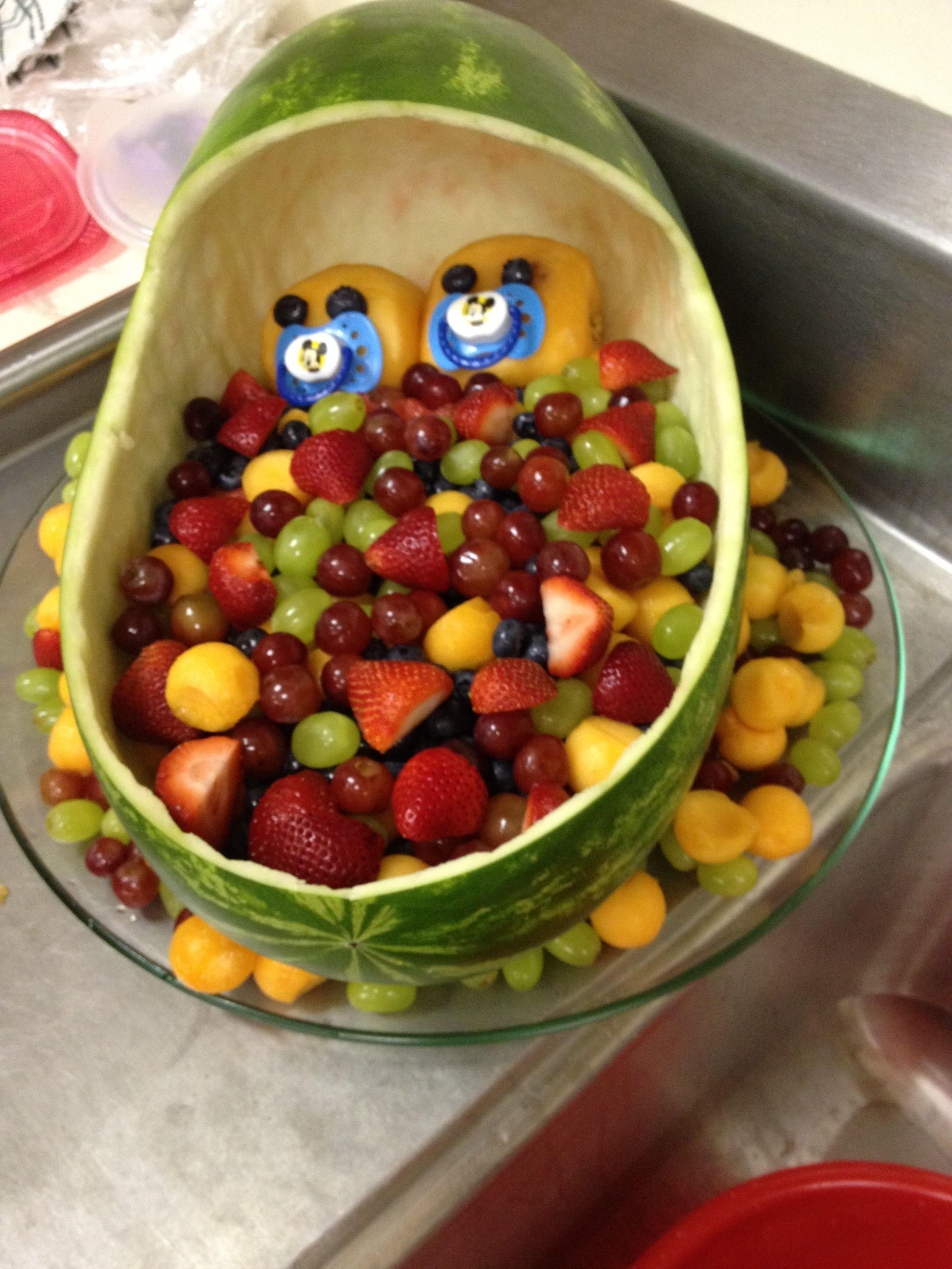 twin baby shower fruit basket baby shower pinterest