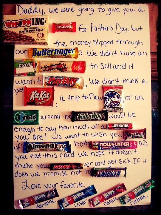 father's day chocolate bar poster