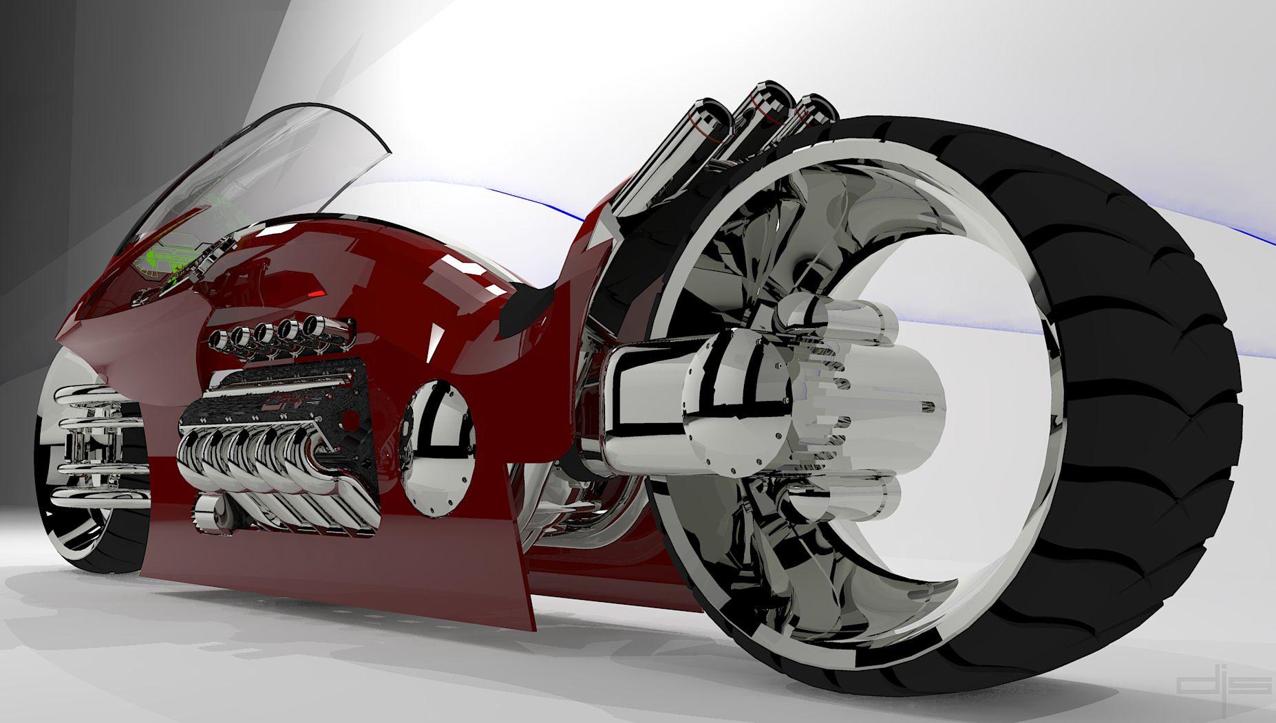 Concepto futurista de motocicleta BMW Radical Concept