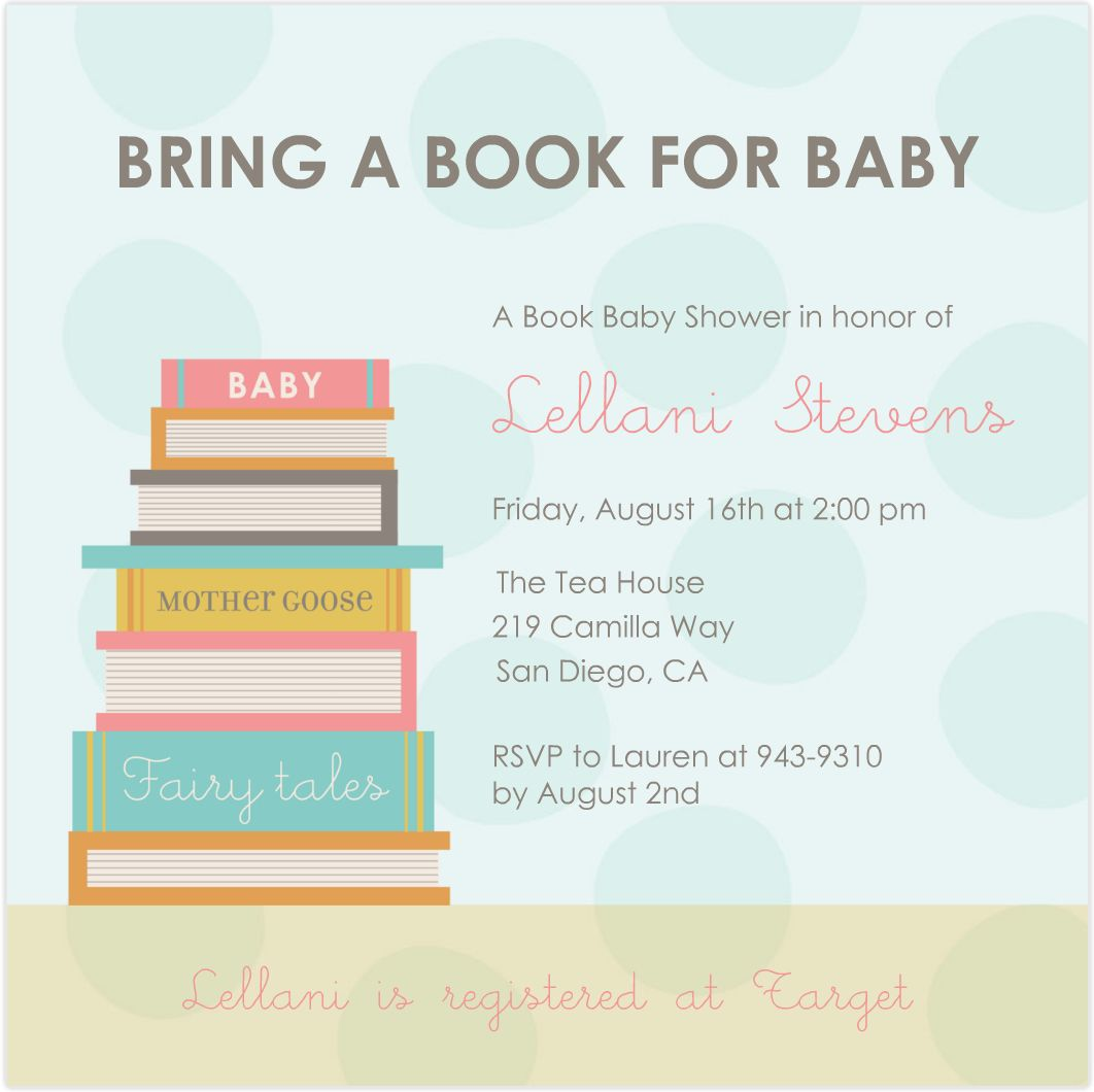 Storybook Invitations Baby Shower with great invitations template