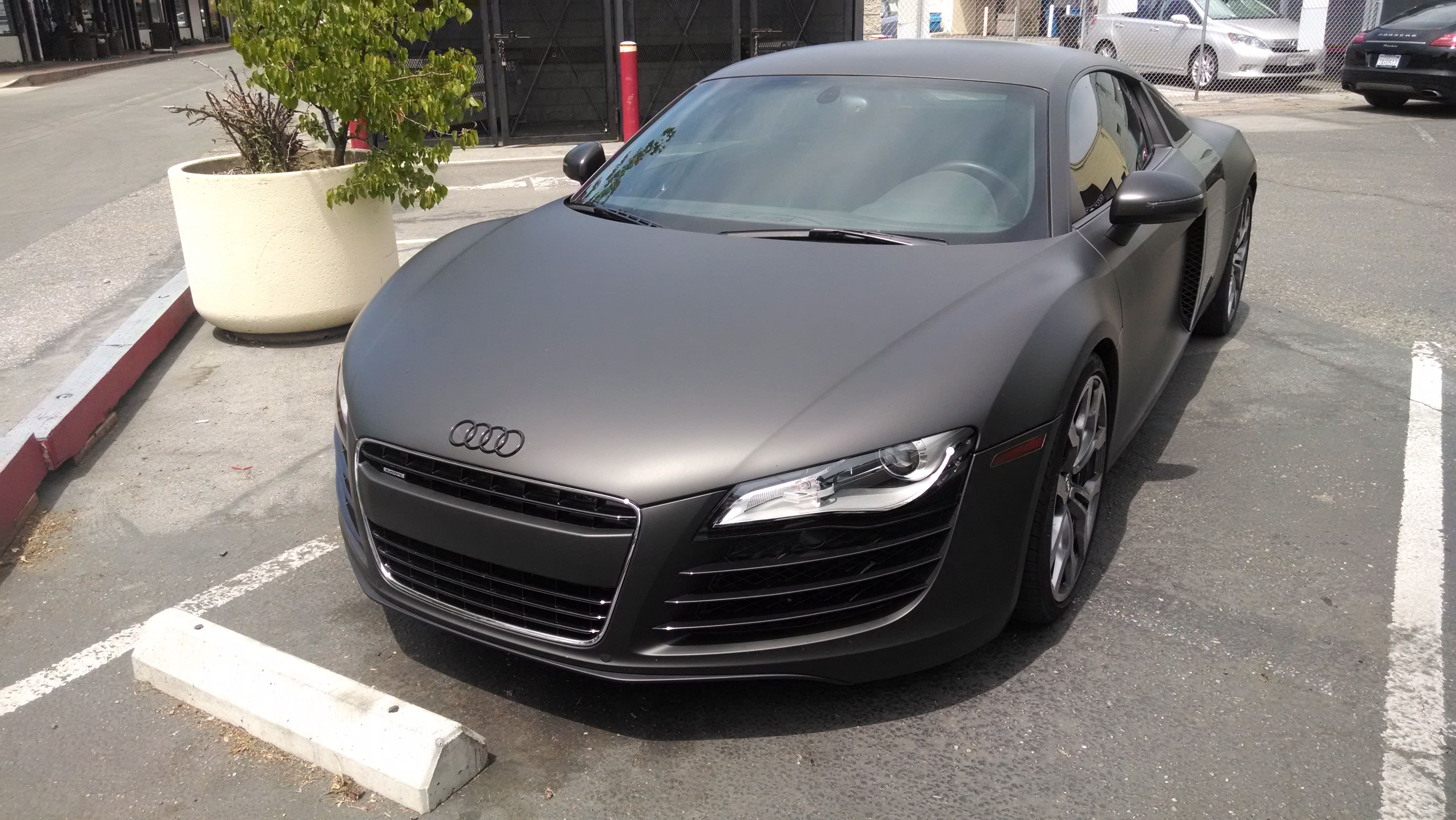 Matte-black Audi R8 awesomeness | Cars | Pinterest