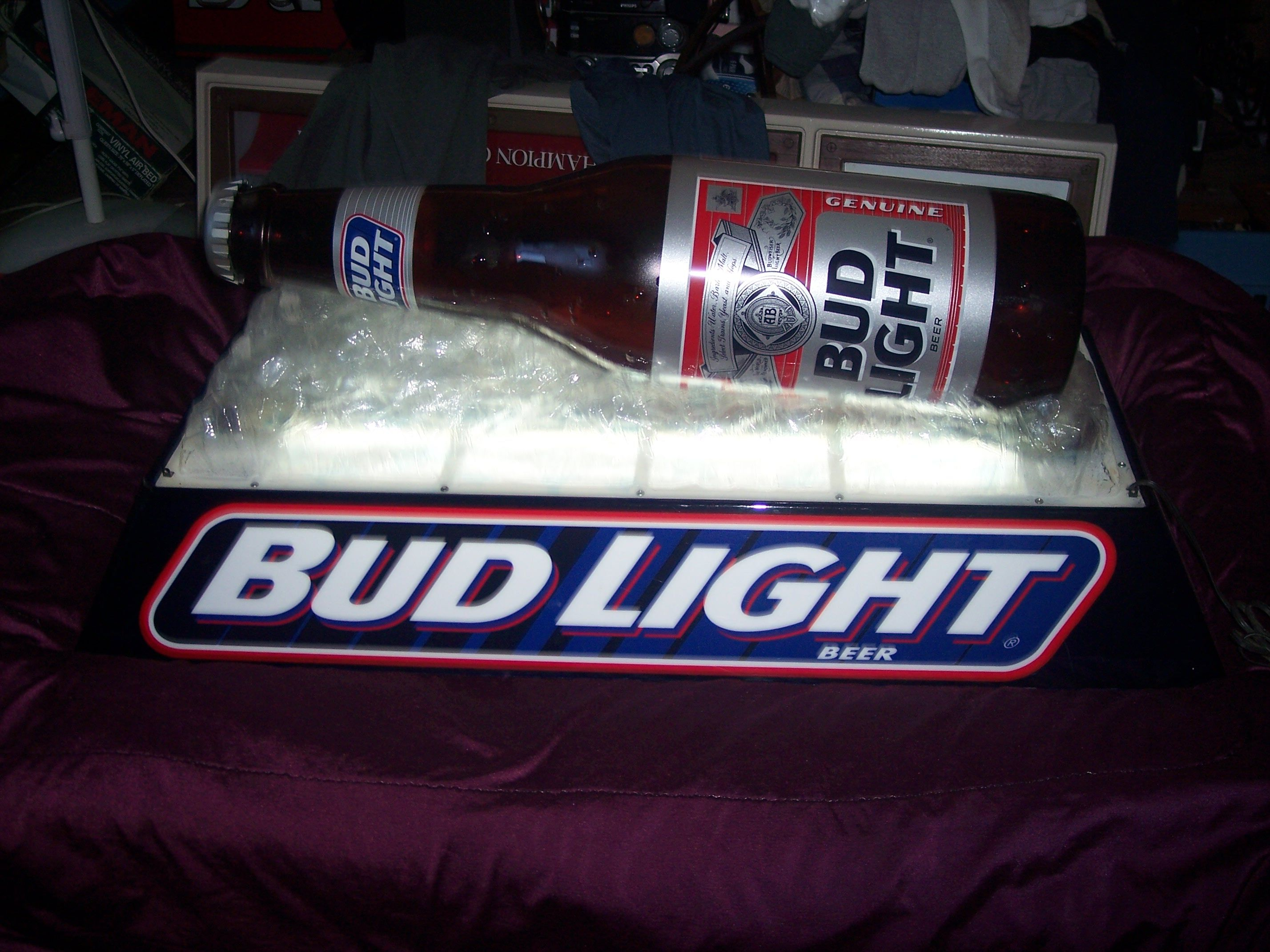 Bud Light Pool Table Light Sold Home Bar Decor And So