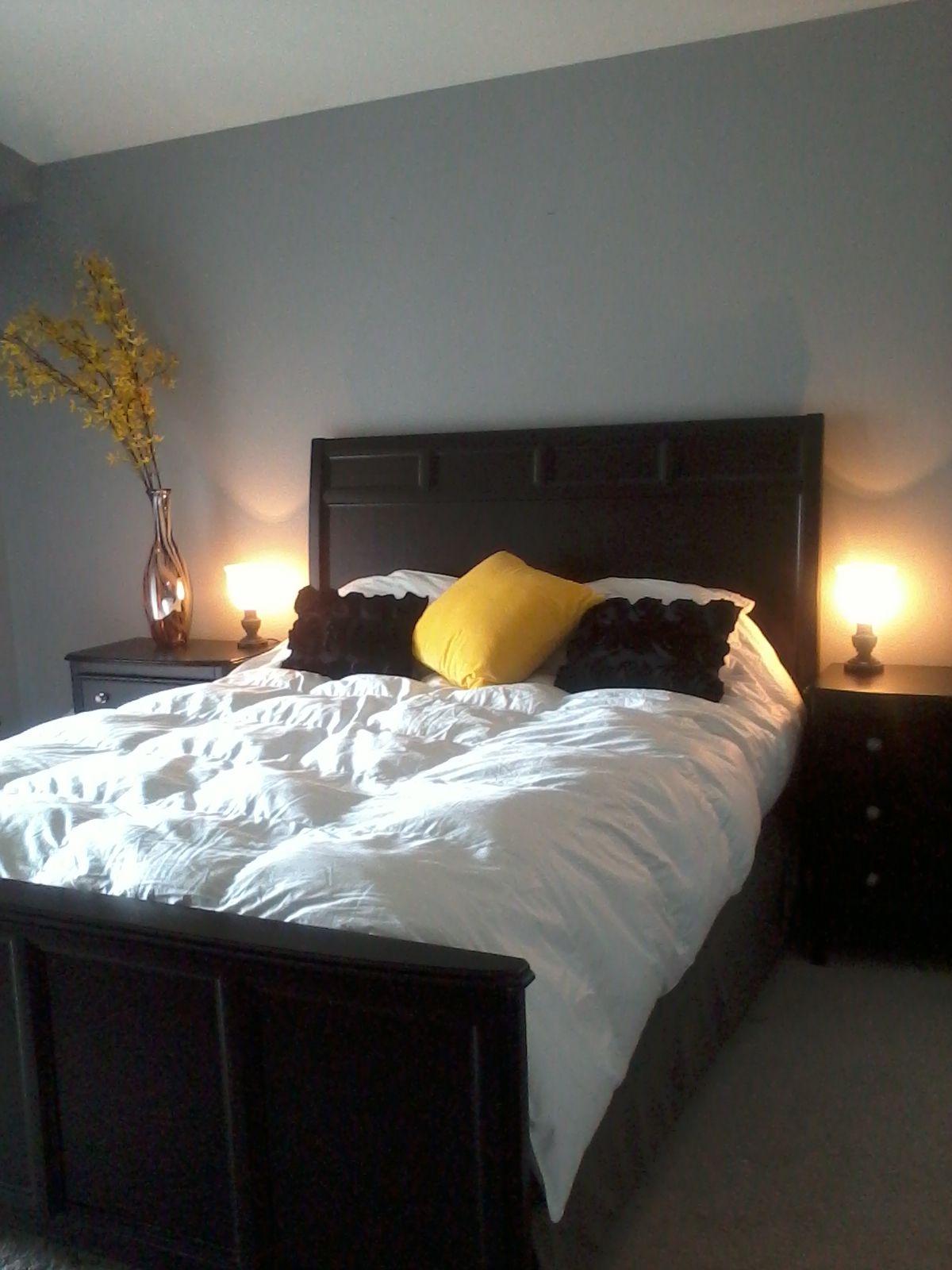 Yellow black white bedroom bedroom ideas pinterest for Black white yellow bedroom