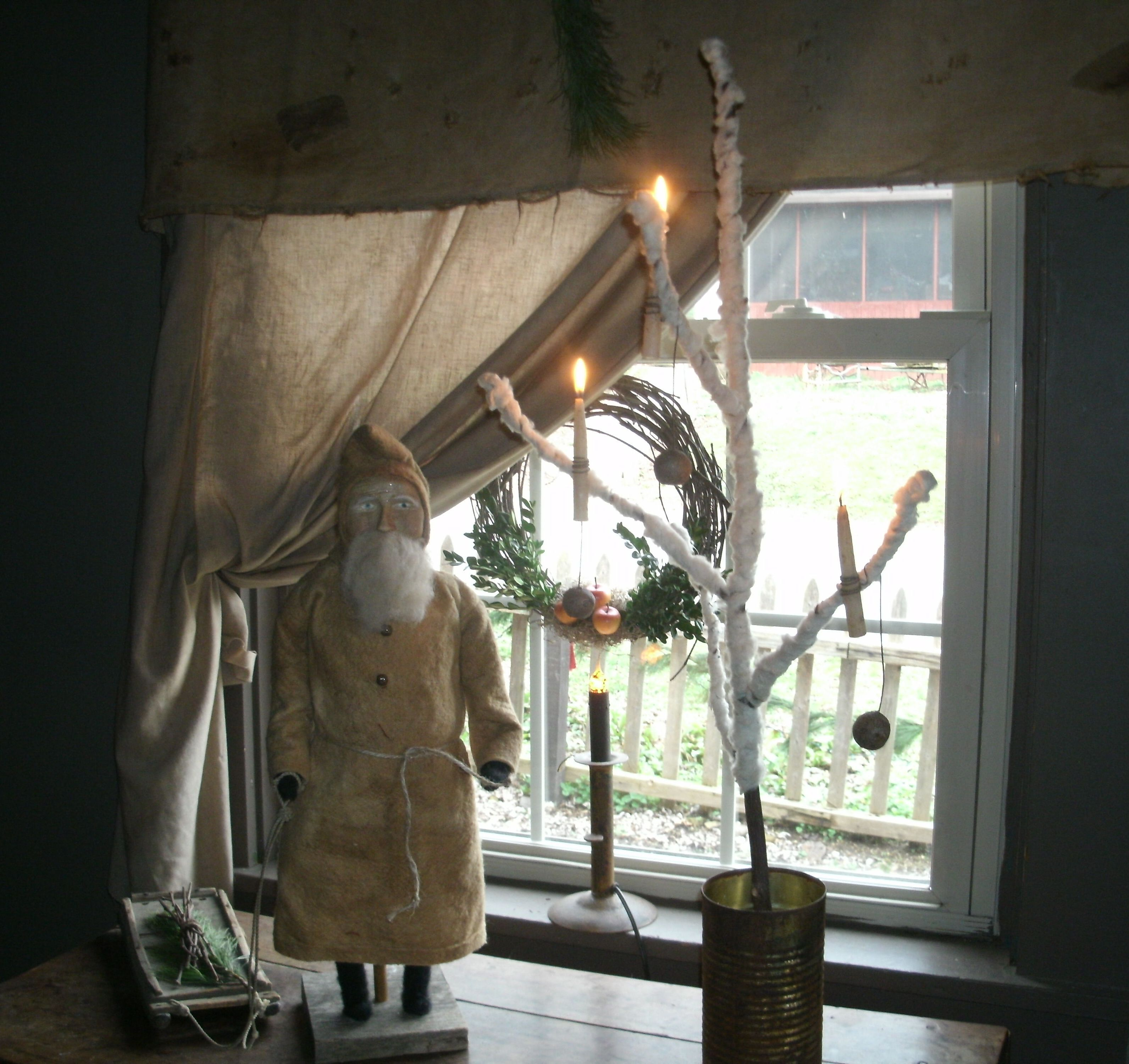 Awesome Primitive Christmas Decorating Pinterest