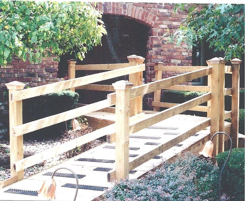 Best Custom Wood Ramp With Handrails Garden Pinterest 400 x 300
