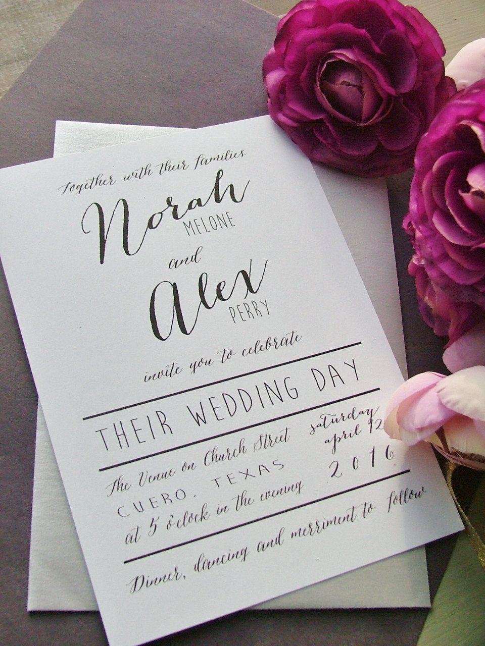 2Nd marriage wedding invite wording
