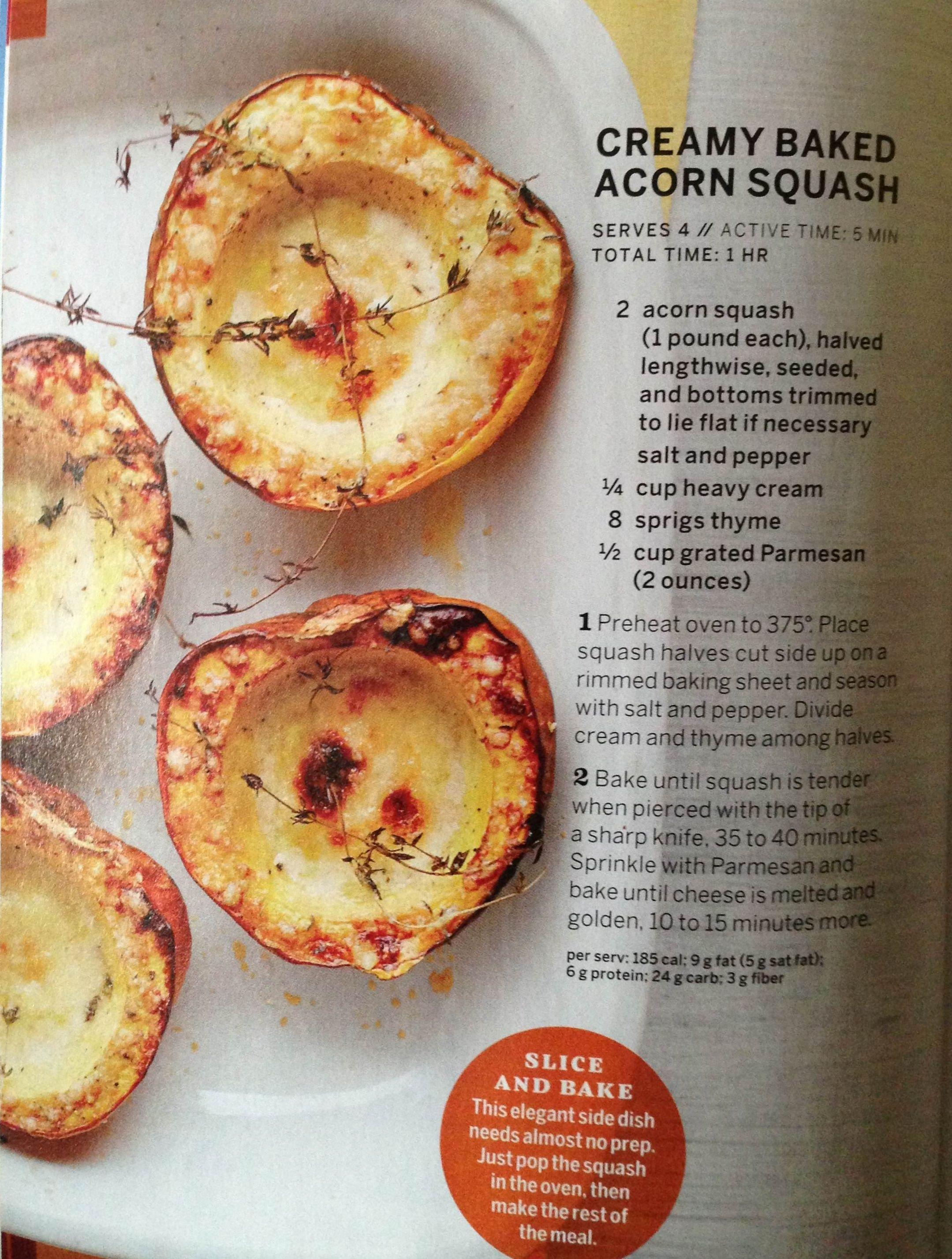 Baked Acorn Squash | eats and treats | Pinterest