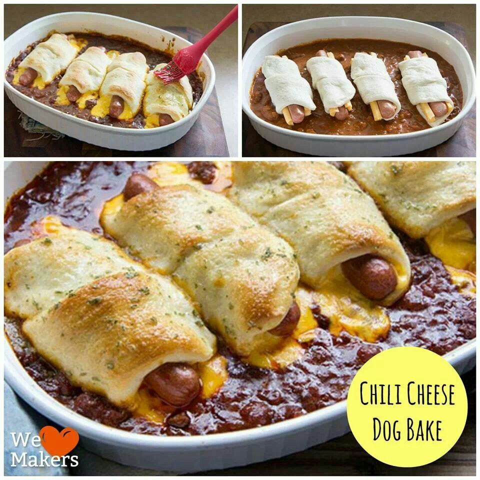 chili Cheese Dog Bake   Yummies   Pinterest