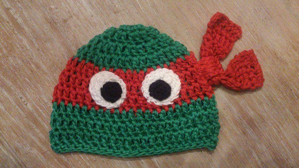 Free Crochet Pattern Turtle Hat : *LolaIsHooked* Ninja Turtle Hat Crochet by me ...