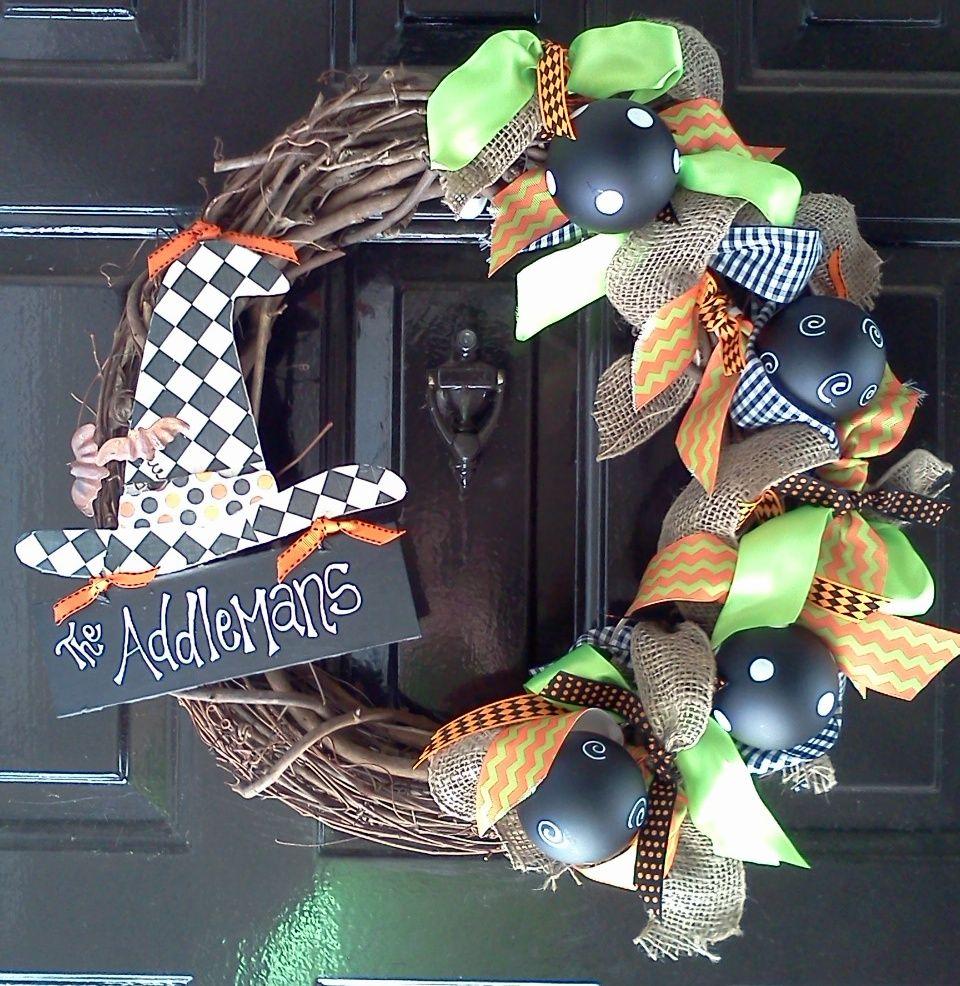 Halloween Wreath  Halloween Wreath Ideas  Pinterest