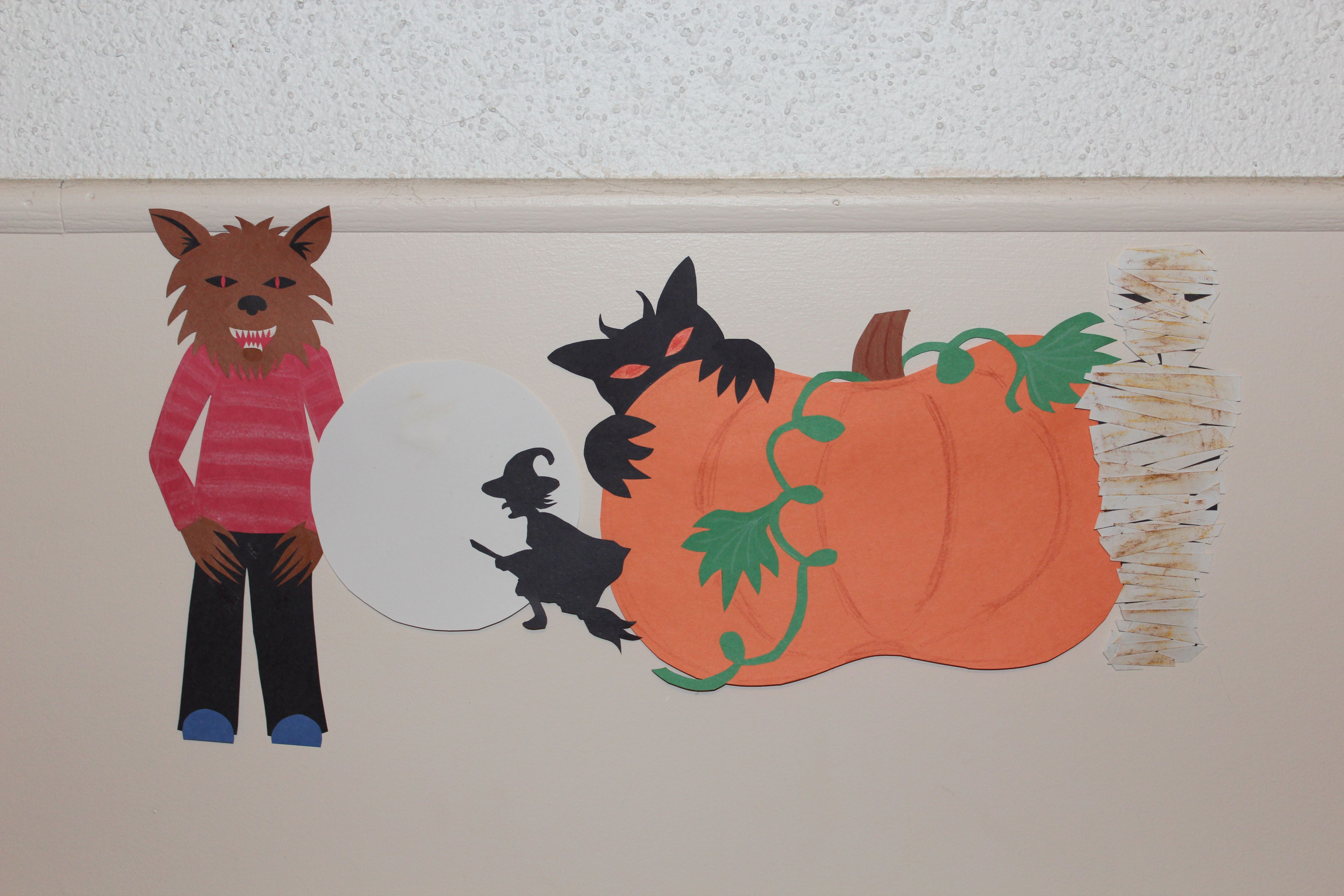 Decorating ideas pin by sadia s on halloween pinterest for Fall decorating ideas with construction paper