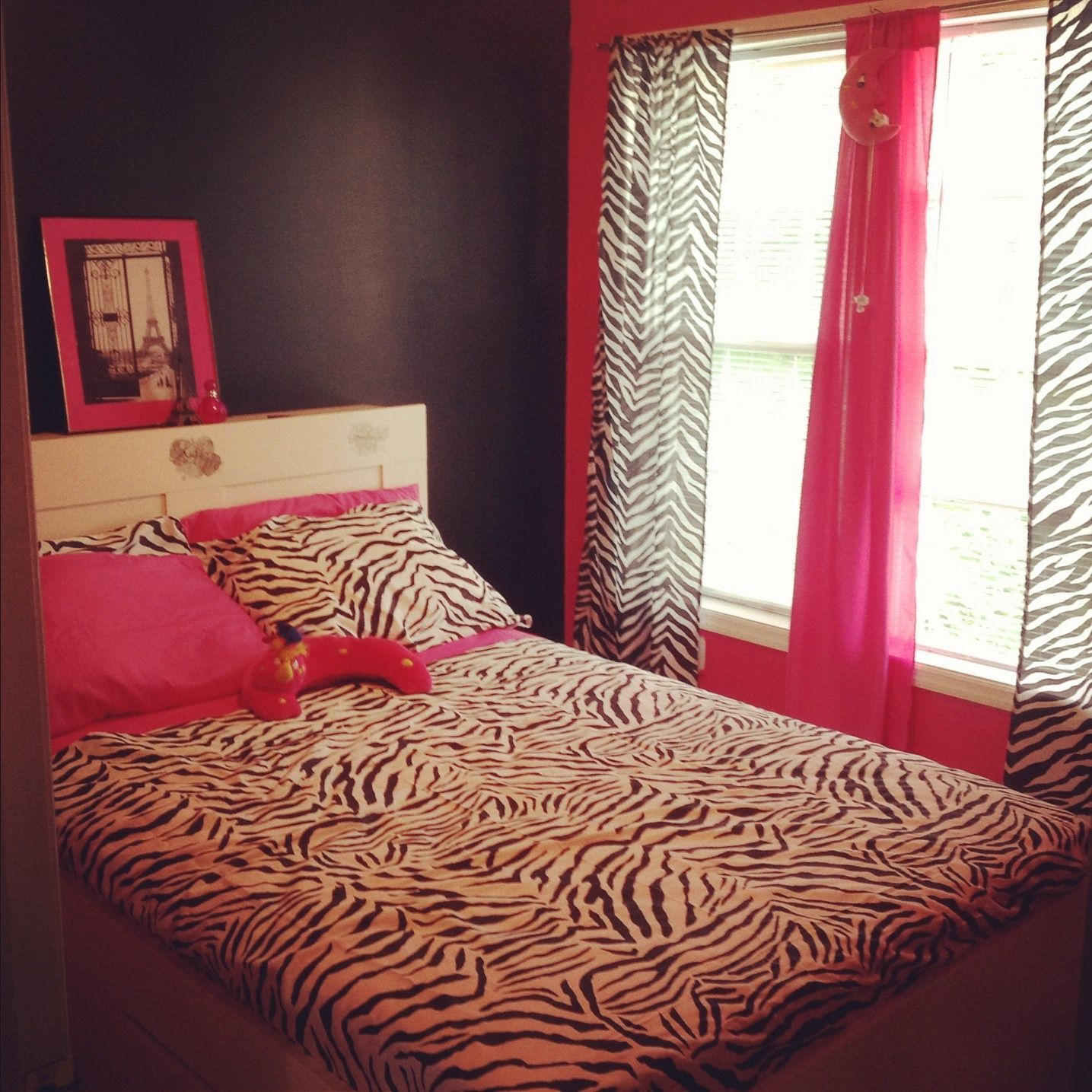 Zebra print hot pink room cute teen room party and home for Cute zebra bedroom ideas