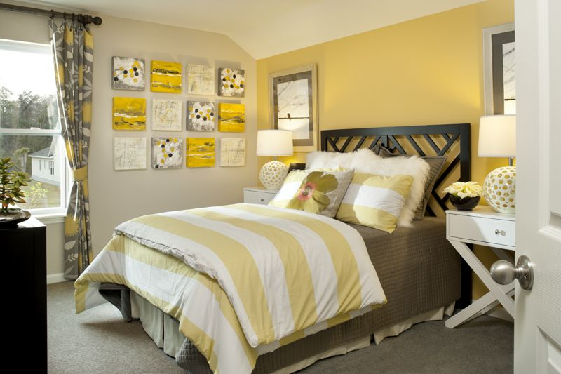 Yellow bedroom  Master Bedroom Ideas  Pinterest