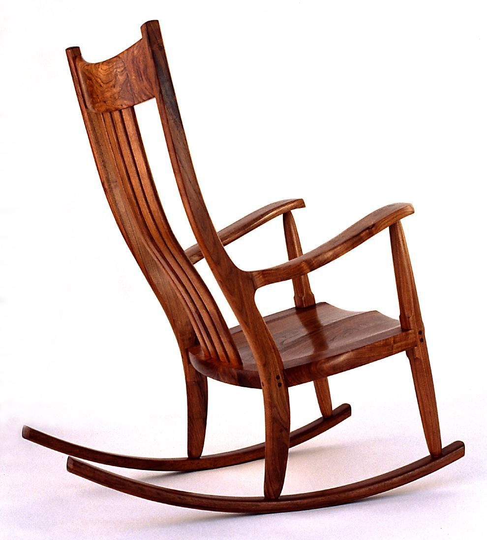 Sam Maloof style rocking chair | Things to build | Pinterest