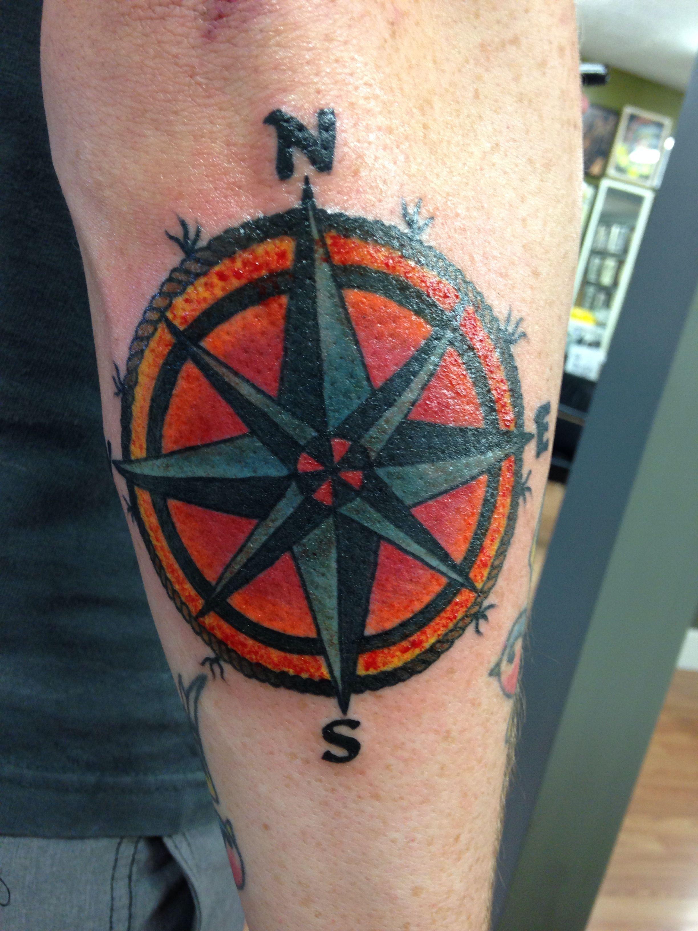 Nautical compass tattoo tattoos piercings pinterest for Nautical compass tattoo