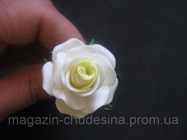 Розочка маленькая из фоамирана мастер класс с пошаговым