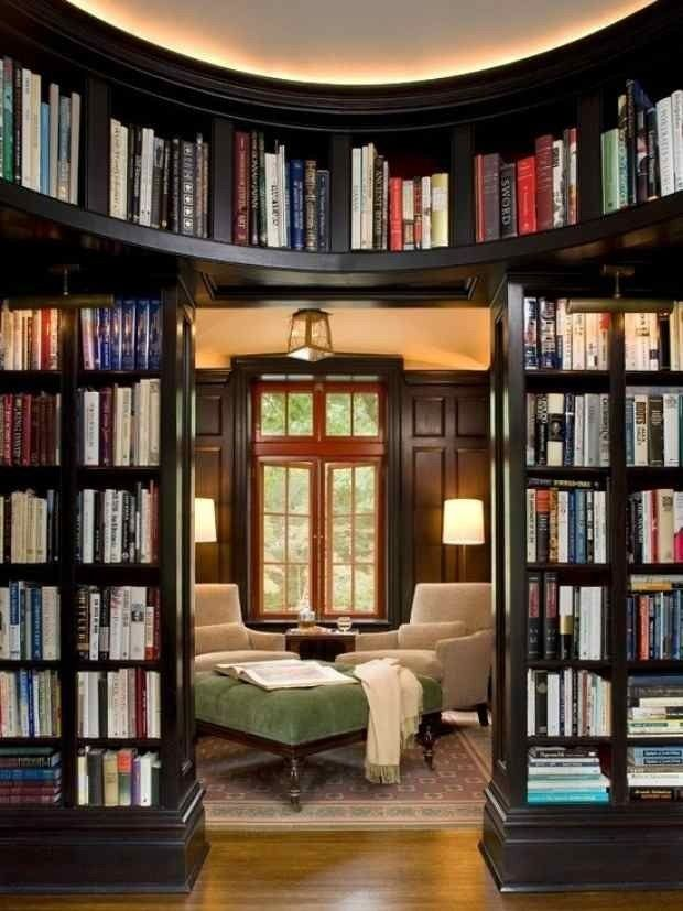 Brilliant Home Library  Homes  Pinterest