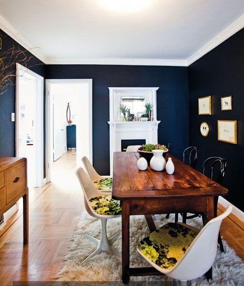 Becker furniture world for Blue walls white trim