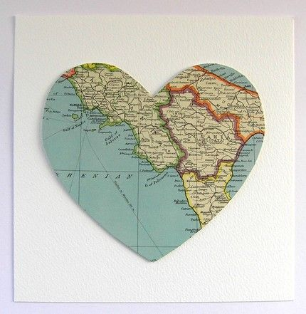 heart shaped map Discovery Pinterest