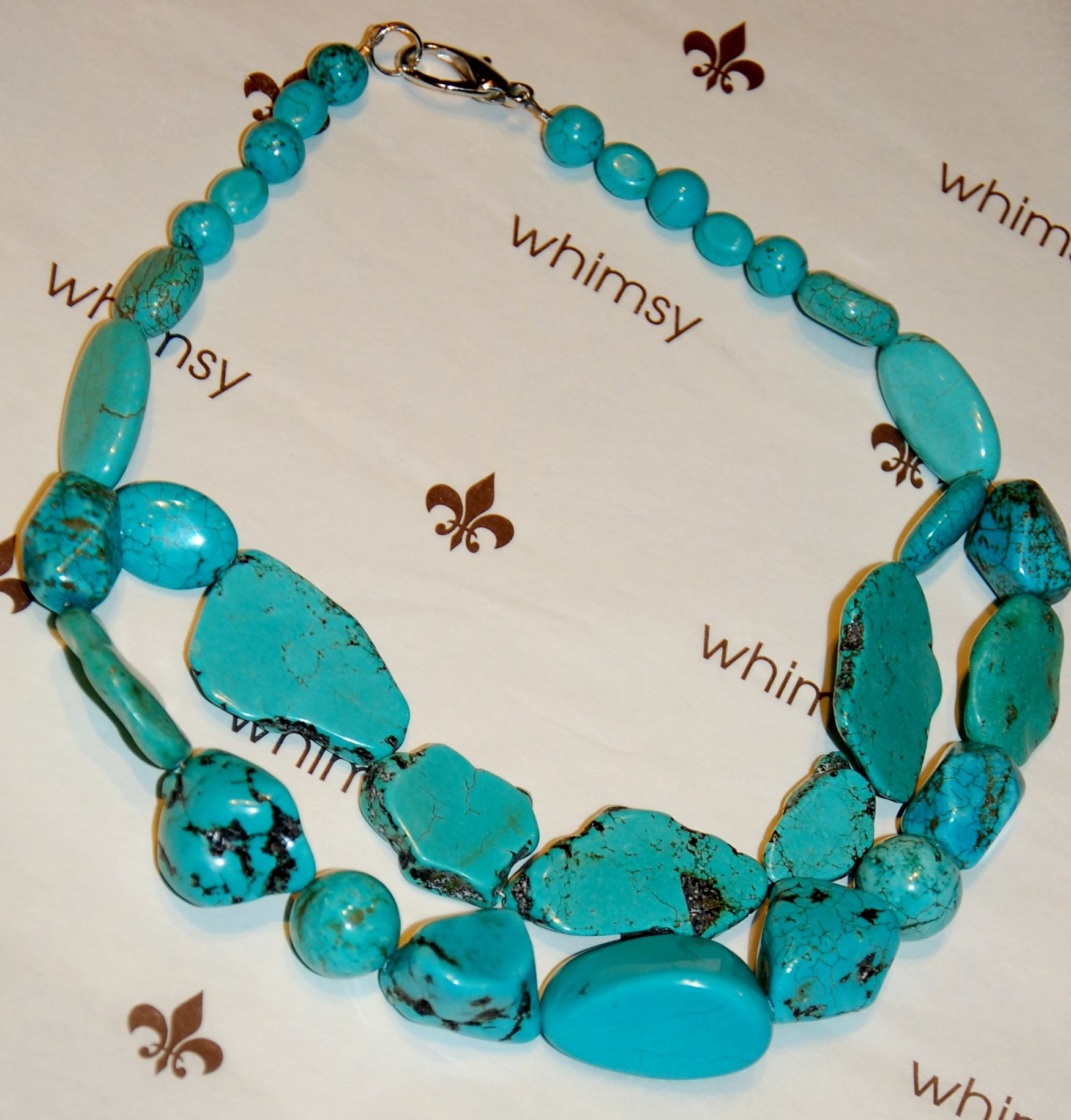 chunky turquoise necklace new items at whimsy