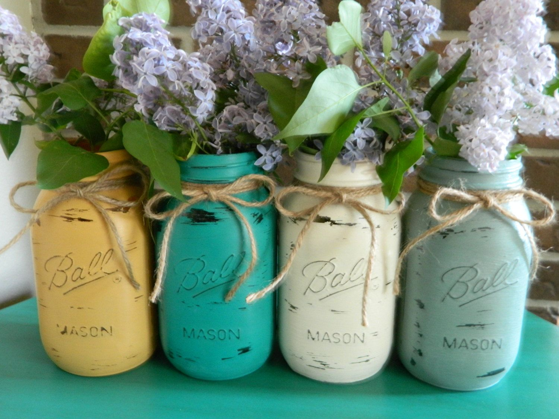mason jars painted - photo #41