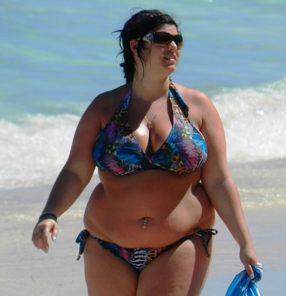 fat women on the beach