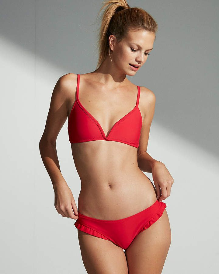 small-chested girl in red bikini 720x900