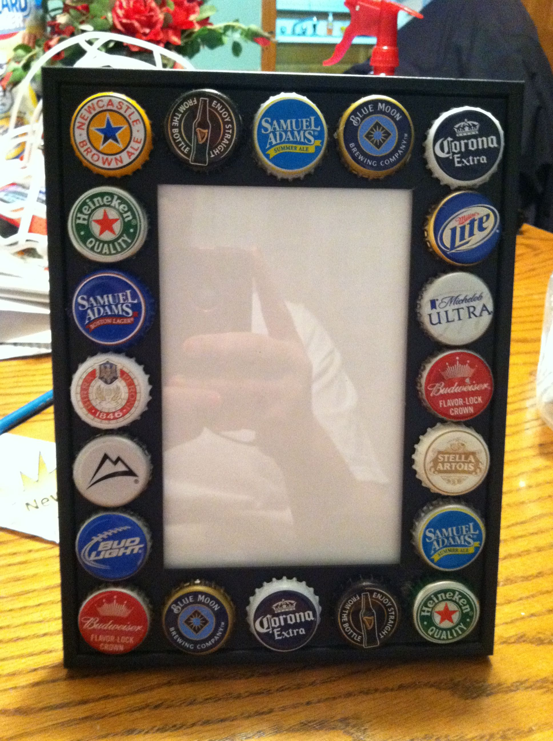 Pinterest discover and save creative ideas for Beer bottle picture frame