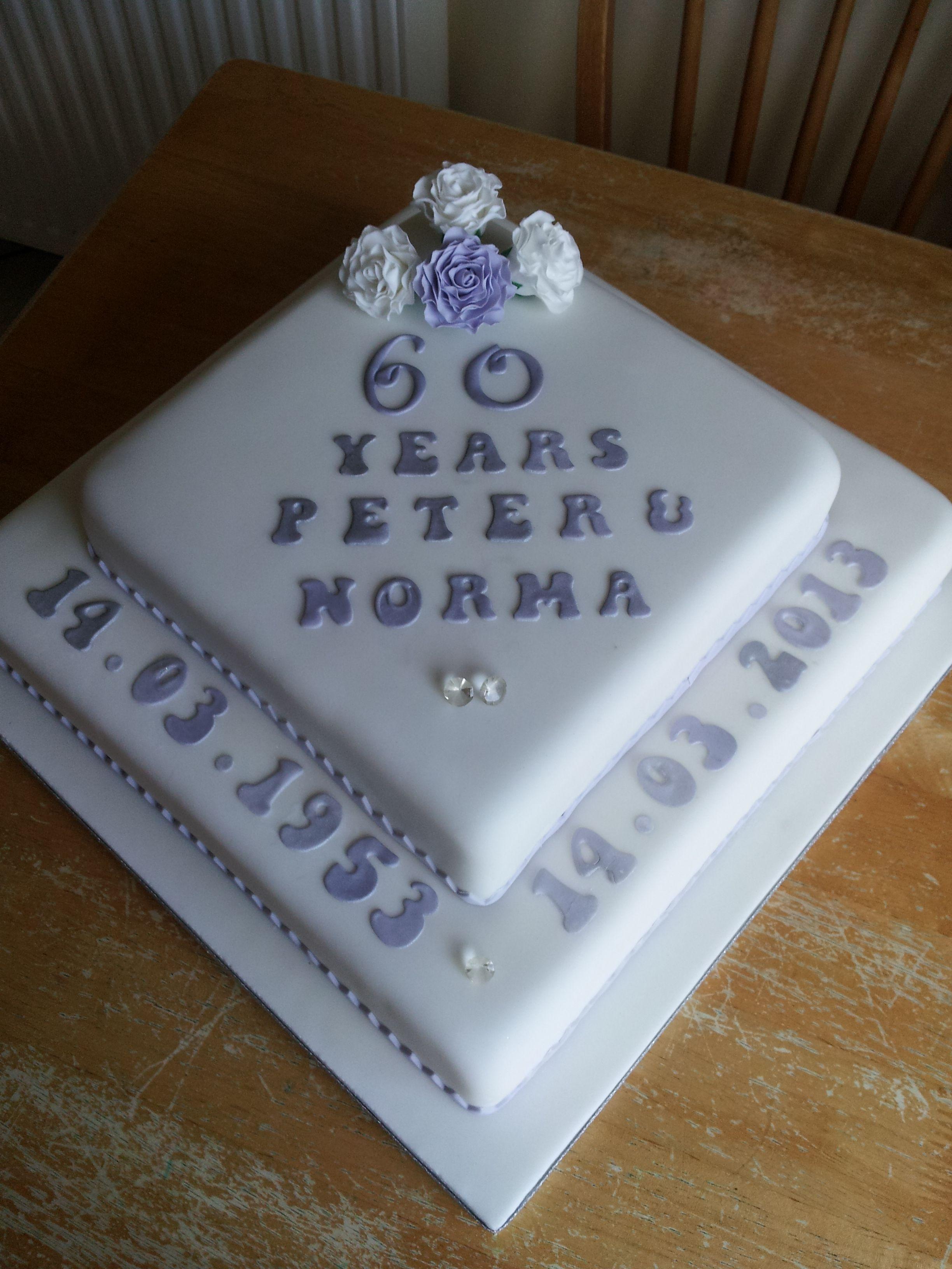 Diamond Anniversary Cake Images : diamond wedding anniversary cake 60 wedding anniversary ...