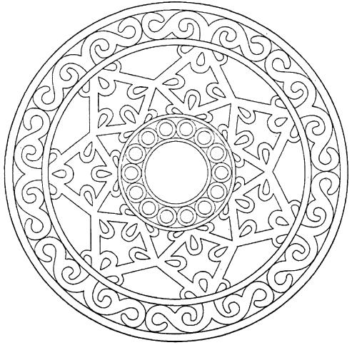Unique carved mandala coloring pages riscos e rabiscos for Unique coloring pages for adults