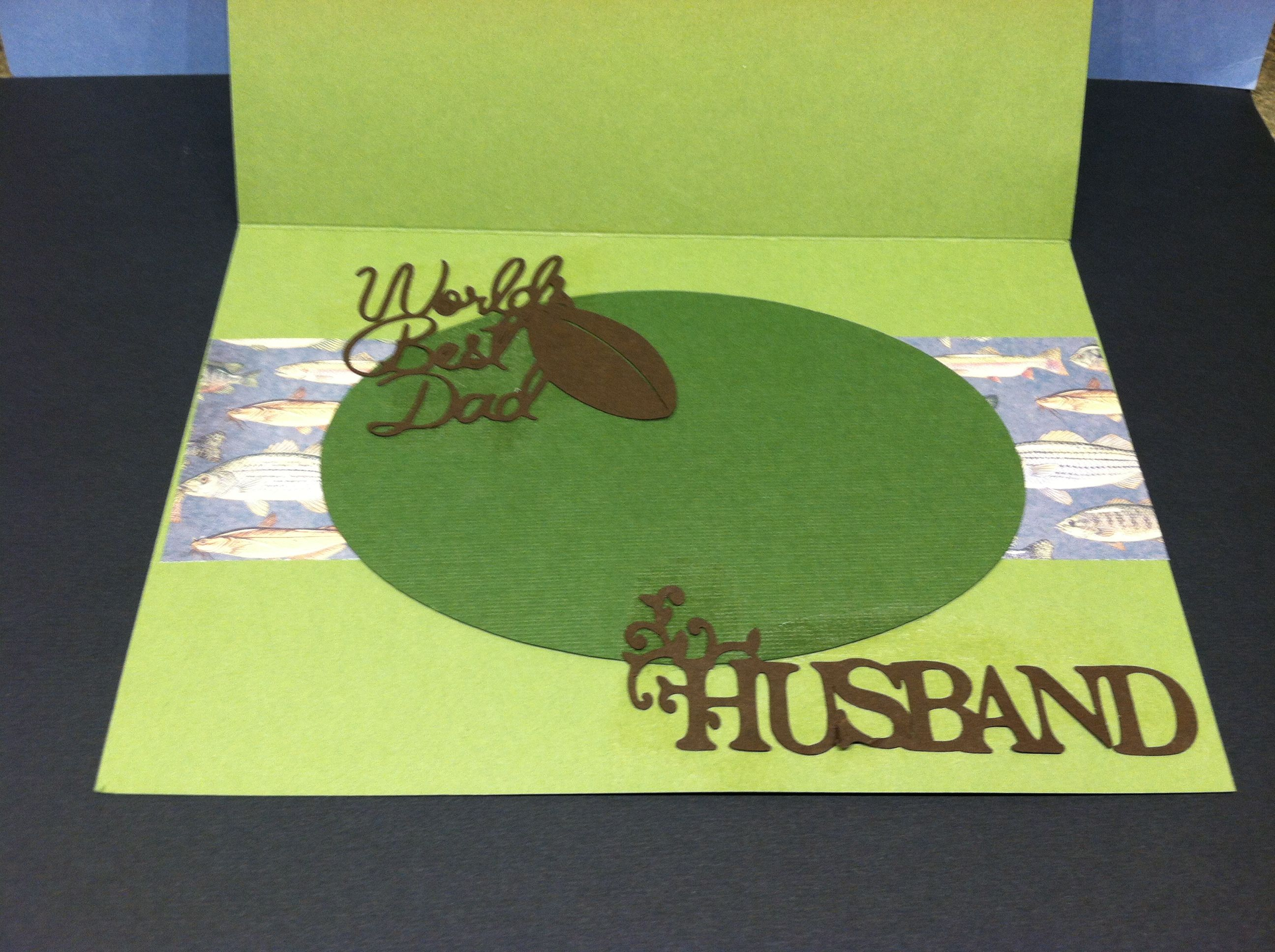 father's day fishing card craft